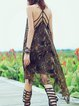 Multicolor Halter Asymmetrical Boho Midi Dress