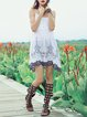 White Embroidered Halter Sleeveless Tunic
