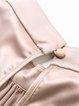 Khaki Plain Gathered 3/4 Sleeve Satin Blouse