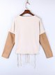 Apricot Pierced Statement Paneled Long Sleeved Top