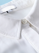 White Plain Pierced Simple Polyester Blouse