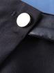 Black Shift Asymmetric Casual Cropped Pants