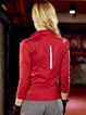 Red Zipper Quick Dry Stretchy Chinlon Breathable Jacket