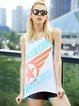 Letter Quick Dry Breathable Stretchy Top Tank
