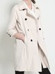 Apricot Buttoned Lapel Elegant Trench Coat
