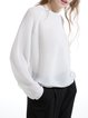 White Viscose See-through Look Long Sleeved Top