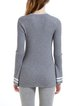 Gray Simple Flared Sleeve Wool Blend Sweater