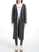 Deep Gray Pockets Wool Blend Plain Simple Cardigan