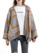 Camel Casual Wool Blend Geometric Cape