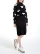 Black Long Sleeve Knitted Two Piece Sweater Dress