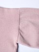 Pink Knitted Half Sleeve Two Piece Color-block Sweater Dress