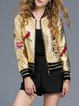 Golden Sweet Appliqued PU Bomber Jacket