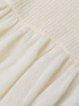 White Angora-blend Knitted Sweet Flared Sleeve Tunic