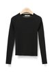 Black Color-block Simple Knitted Sweater