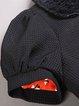 Black Jacquard Statement Polyester Cropped Jacket