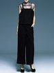 Black Casual Two Piece Plain Jumpsuit