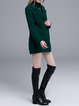 Dark Green Buttoned H-line Long Sleeve Coat