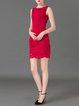 Red Elegant Pierced Mini Dress