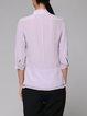 Lavender Stand Collar Simple Plain Blouse