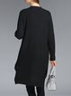 Black V Neck High Low Long Sleeve Cardigan