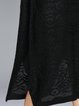 Black Embroidered Slit Shift Simple Sweater Dress