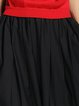 Red Short Sleeve Paneled Simple Turtleneck Midi Dress