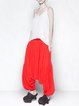 Red Statement Asymmetric Harem Pants