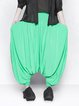 Green Statement Viscose Asymmetric Harem Pants