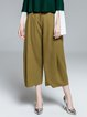 Camel Simple Wool Blend Wide Leg Pants