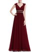 Beaded Sweatheart Chiffon Pleated Plain Evening Dress