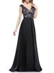 Black Sexy Sleeveless Plunging Neck Evening Dress