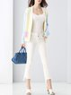 Multicolor V Neck Color-block Casual Cardigan