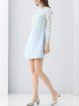 Light Blue Paneled Simple Mini Dress