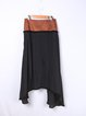 Black Tiered Woven Plain Simple Maxi Skirt