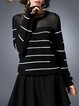 Black Stripes Casual Knitted Sweater