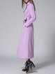 Purple Long Sleeve Lapel High Temperature Setting Coat with Belt