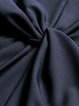 Navy Blue V Neck Elegant  Ruched Midi Dress