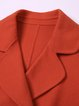 Orange 3/4 Sleeve Double-faced Wool Buttoned Cropped Jacket