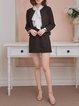 Black Solid Elegant Guipure Lace Two Piece Mini Dress
