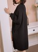 Black Viscose Solid Knitted Long Sleeve Cardigan