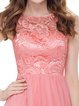 Pink Girly Chiffon Paneled Mini Dress