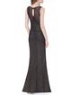 Black Slit Sexy Lace Mermaid Evening Dress