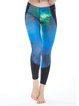 Aqua Abstract Stretchy Polyester Bottom Leggings