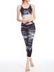 Deep Gray Stretchy Wicking Polyester Bottom Leggings