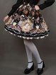 Skater Girly Graphic Printed Polyester Midi Skirt
