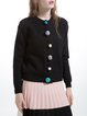 Black Casual Knitted Buttoned Cardigan