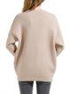 Beige H-line Wool Blend Casual Long Sleeved Top