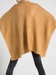H-line Casual Wool Blend 3/4 Sleeve Pierced Cape