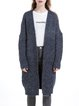 Dark Blue Knitted Long Sleeve Cardigan