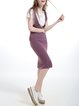 Sleeveless Knitted H-line Casual Wool-blend Overall Midi Dress